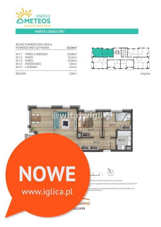 Mieszkanie trzypokojowe na sprzedaż Wrocław, Psie Pole, Sołtysowice, Poprzeczna  62m2 Foto 6
