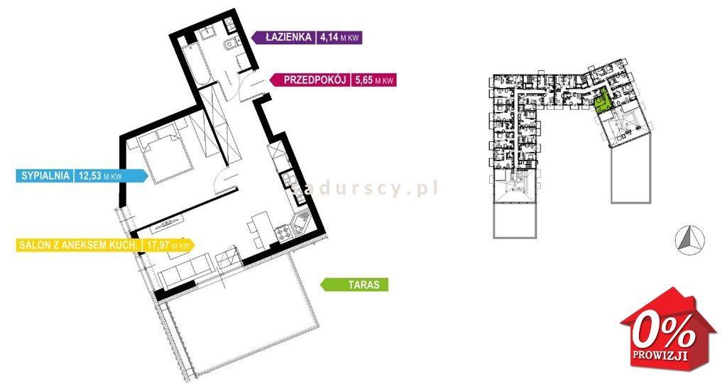 Mieszkanie dwupokojowe na sprzedaż Kraków, Prądnik Biały, Prądnik Biały, Kazimierza Wyki - okolice  41m2 Foto 3