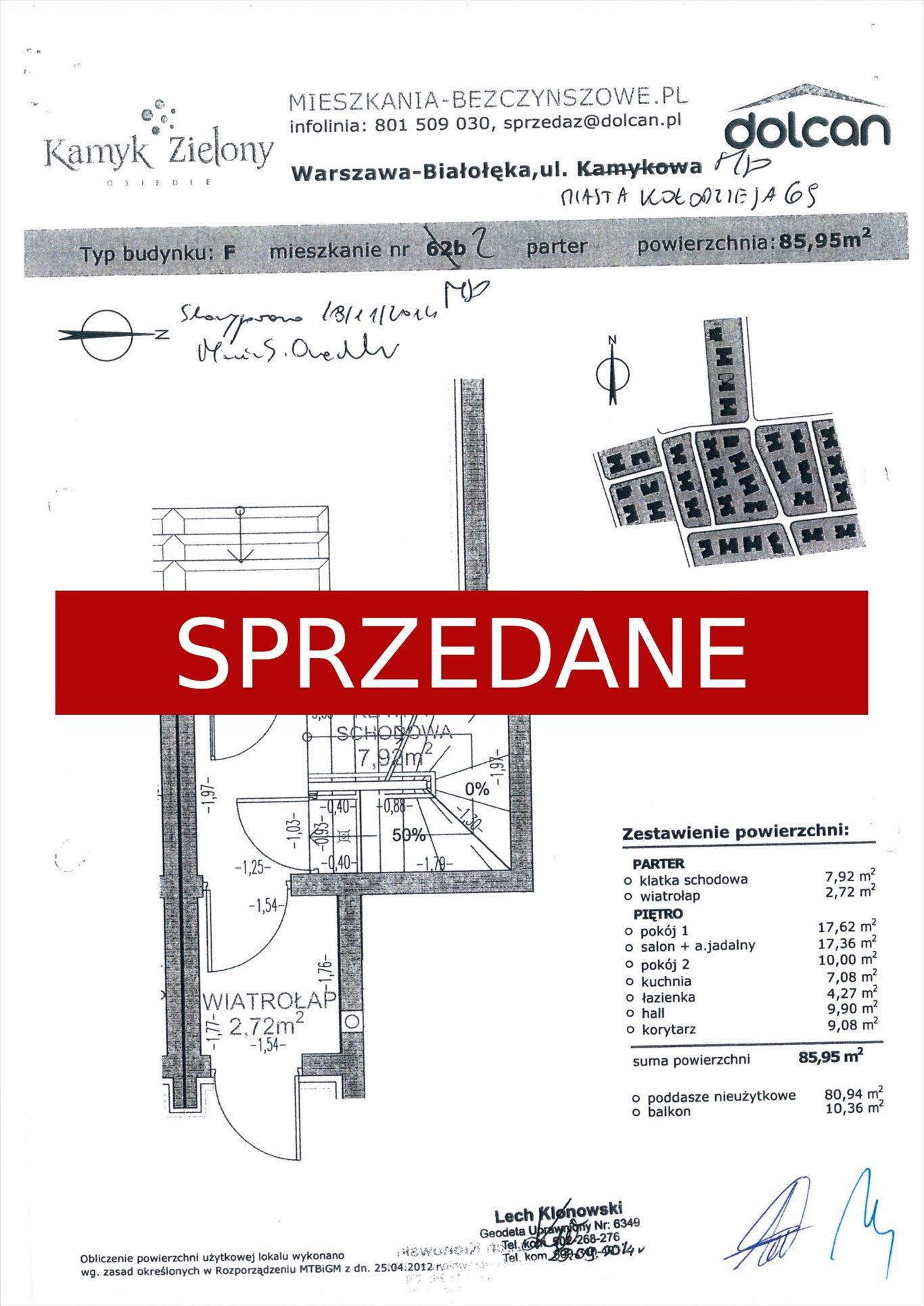 Mieszkanie trzypokojowe na sprzedaż Warszawa, Białołęka  86m2 Foto 4