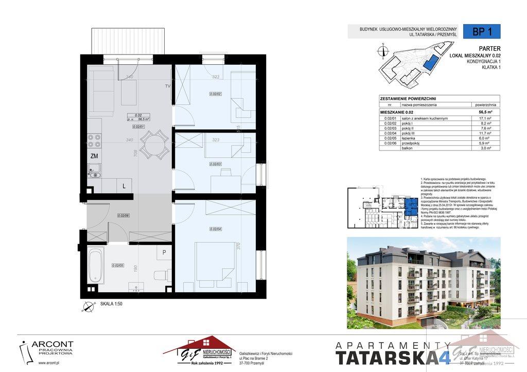 Mieszkanie czteropokojowe  na sprzedaż Przemyśl, Tatarska  57m2 Foto 8