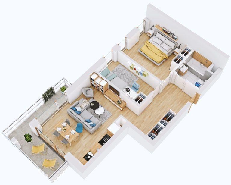 Mieszkanie trzypokojowe na sprzedaż Lublin, Węglin, Kwarcowa  59m2 Foto 2