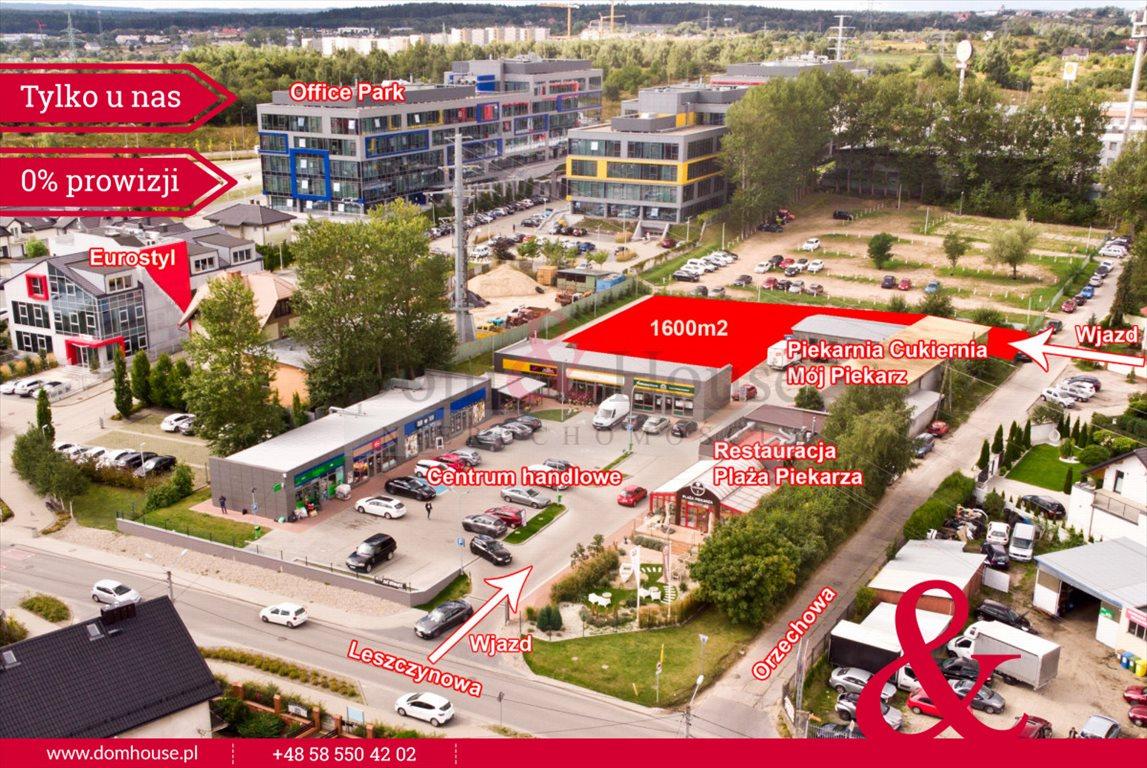 Działka przemysłowo-handlowa pod dzierżawę Gdańsk, Jasień, Orzechowa  1600m2 Foto 1