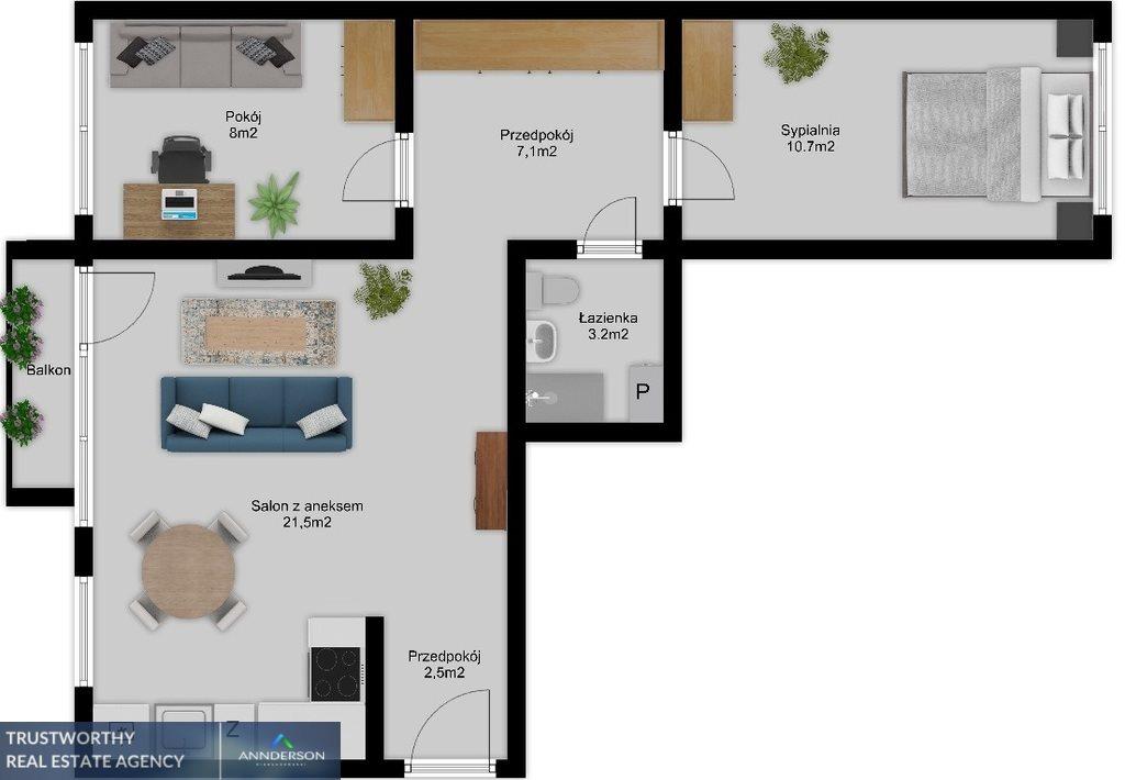 Mieszkanie trzypokojowe na sprzedaż Kraków, Grzegórzki, Grzegórzki, Ugorek  55m2 Foto 8