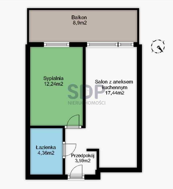 Mieszkanie dwupokojowe na sprzedaż Wrocław, Krzyki, Tarnogaj, Śliczna  38m2 Foto 2