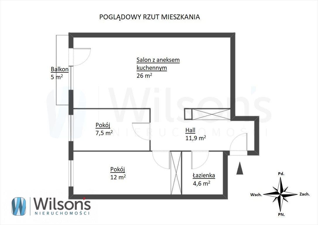 Mieszkanie trzypokojowe na sprzedaż Warszawa, Włochy, ks. Juliana Chrościckiego  62m2 Foto 2