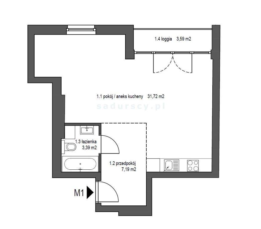 Mieszkanie dwupokojowe na sprzedaż Kraków, Śródmieście, Mazowiecka  42m2 Foto 2