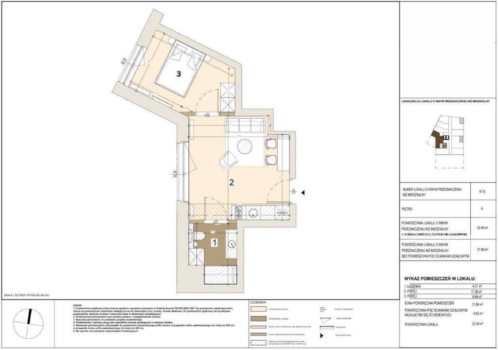 Mieszkanie dwupokojowe na sprzedaż Warszawa, Mokotów, Stegny, Pory  32m2 Foto 4