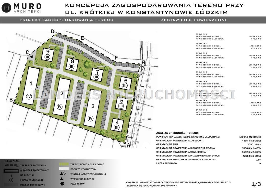 Działka inna na sprzedaż Konstantynów Łódzki, Krótka  17490m2 Foto 4