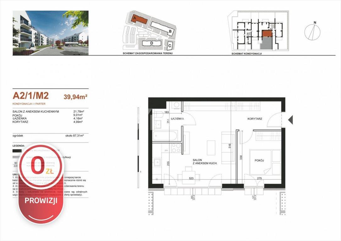 Mieszkanie dwupokojowe na sprzedaż Poznań, Strzeszyn  40m2 Foto 2