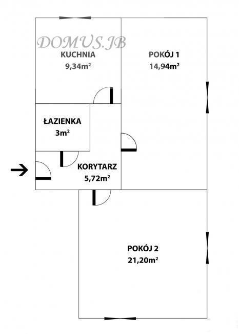 Mieszkanie dwupokojowe na sprzedaż Lidzbark Warmiński, Marszałka Józefa Piłsudskiego  54m2 Foto 1