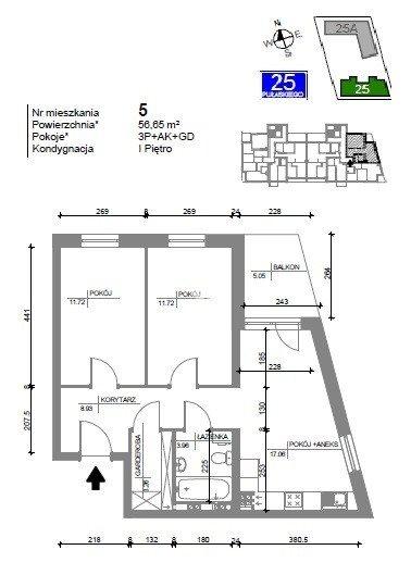 Mieszkanie trzypokojowe na sprzedaż Bydgoszcz, Bartodzieje Wielkie, Kazimierza Pułaskiego  57m2 Foto 3
