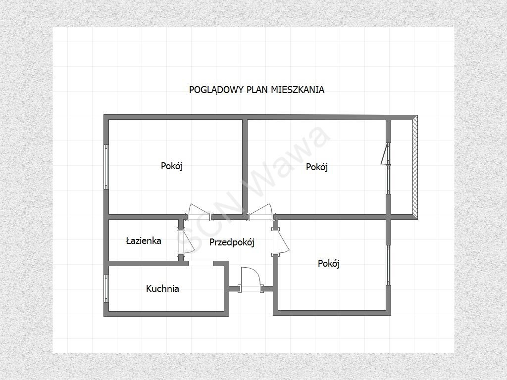 Mieszkanie trzypokojowe na sprzedaż Warszawa, Żoliborz, Krasińskiego  75m2 Foto 12