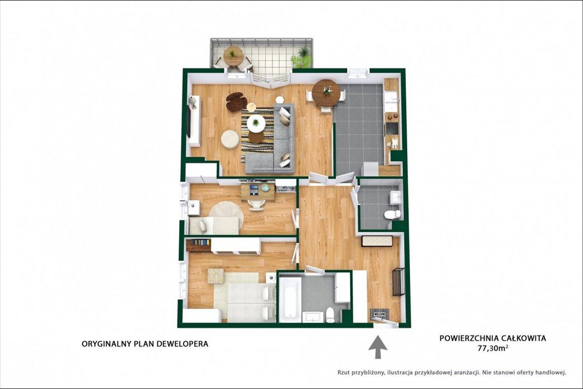 Mieszkanie trzypokojowe na sprzedaż Ząbki, Podleśna  77m2 Foto 12