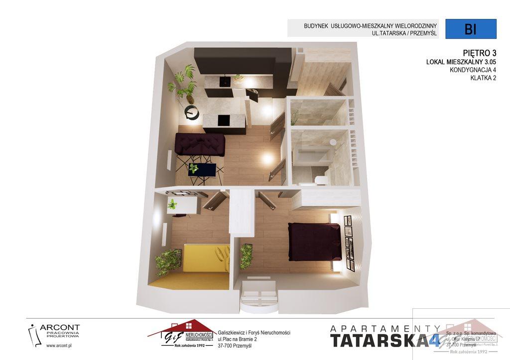 Mieszkanie trzypokojowe na sprzedaż Przemyśl, Tatarska  52m2 Foto 4