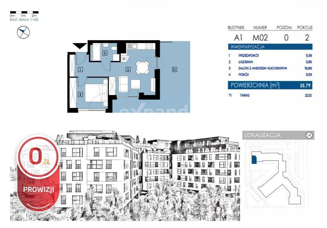 Mieszkanie dwupokojowe na sprzedaż Rzeszów, Henryka Wieniawskiego  36m2 Foto 5