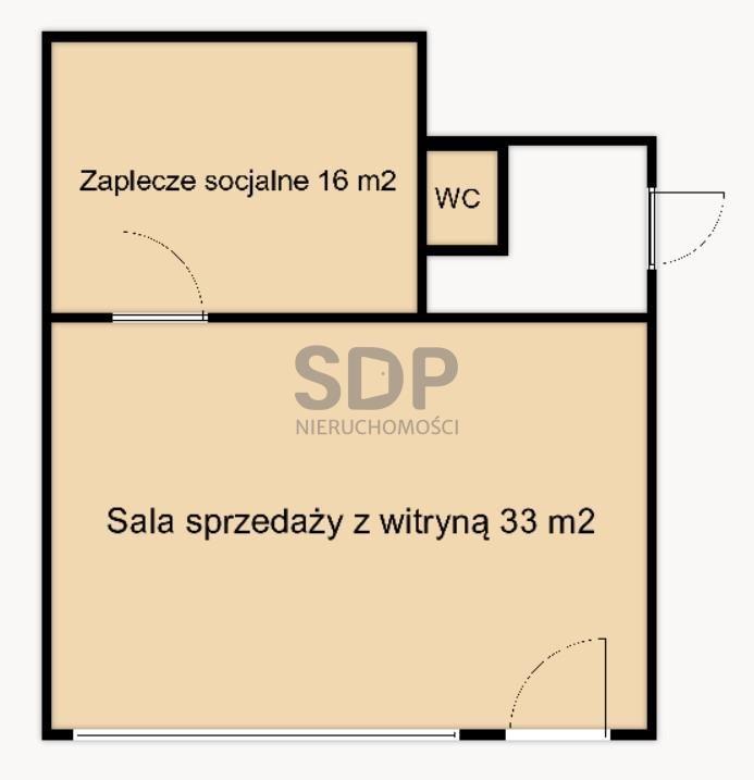 Lokal użytkowy na sprzedaż Wrocław, Śródmieście, Ołbin, Jedności Narodowej  49m2 Foto 3