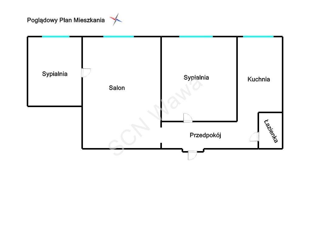 Mieszkanie trzypokojowe na sprzedaż Warszawa, Mokotów, Al.Niepodległości  52m2 Foto 9