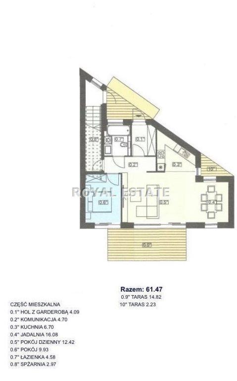 Mieszkanie dwupokojowe na wynajem Częstochowa, Parkitka  61m2 Foto 10