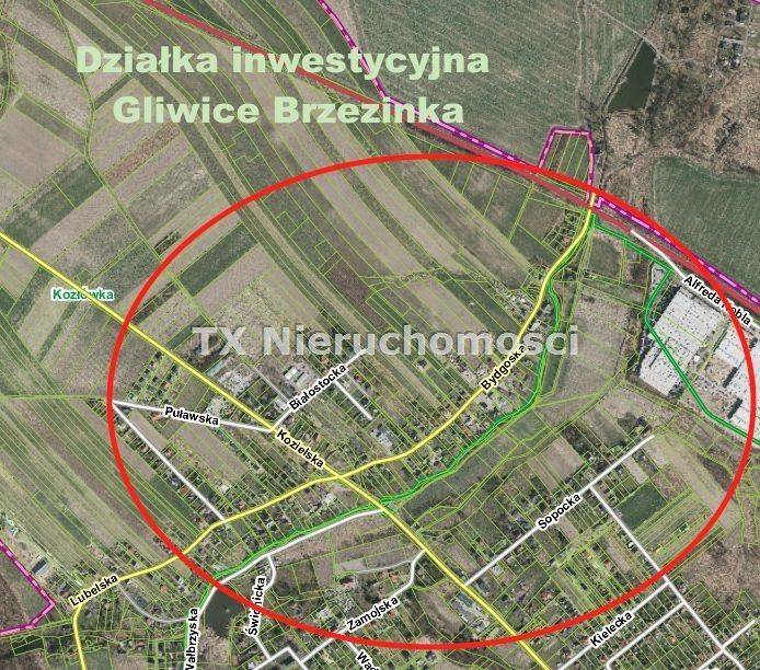 Działka inna na sprzedaż Gliwice, Brzezinka  7180m2 Foto 1