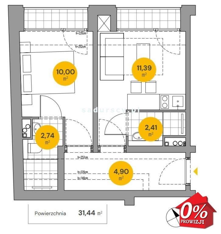 Mieszkanie dwupokojowe na sprzedaż Kraków, Stare Miasto, Stare Miasto, Wita Stwosza  31m2 Foto 3
