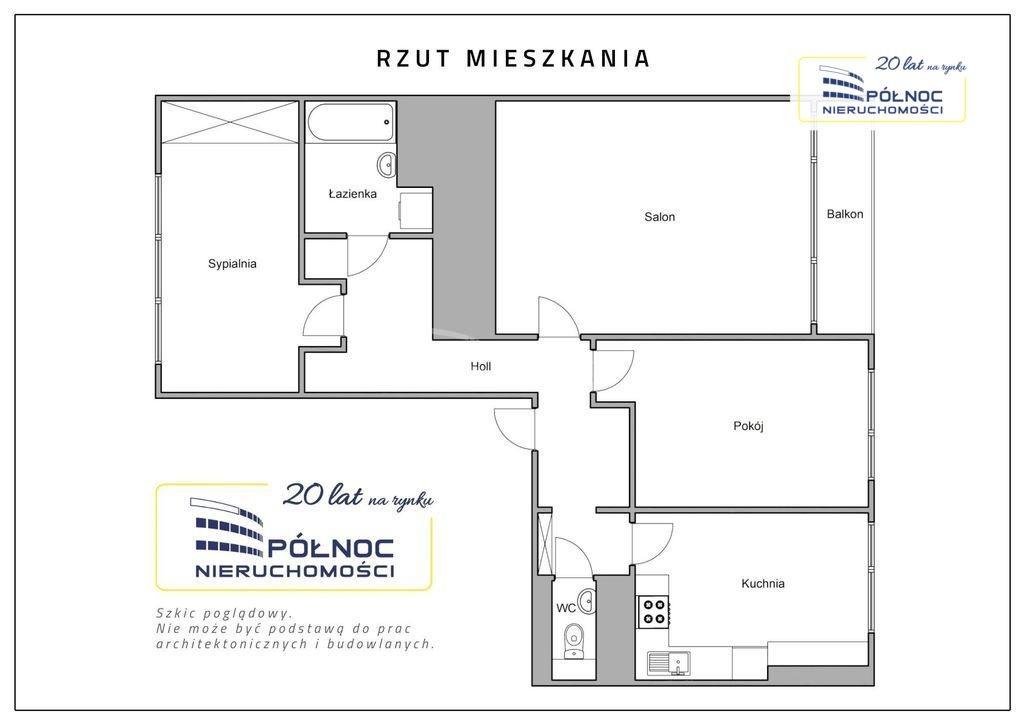 Mieszkanie trzypokojowe na sprzedaż Mikołów, os. Jana Kochanowskiego  63m2 Foto 11