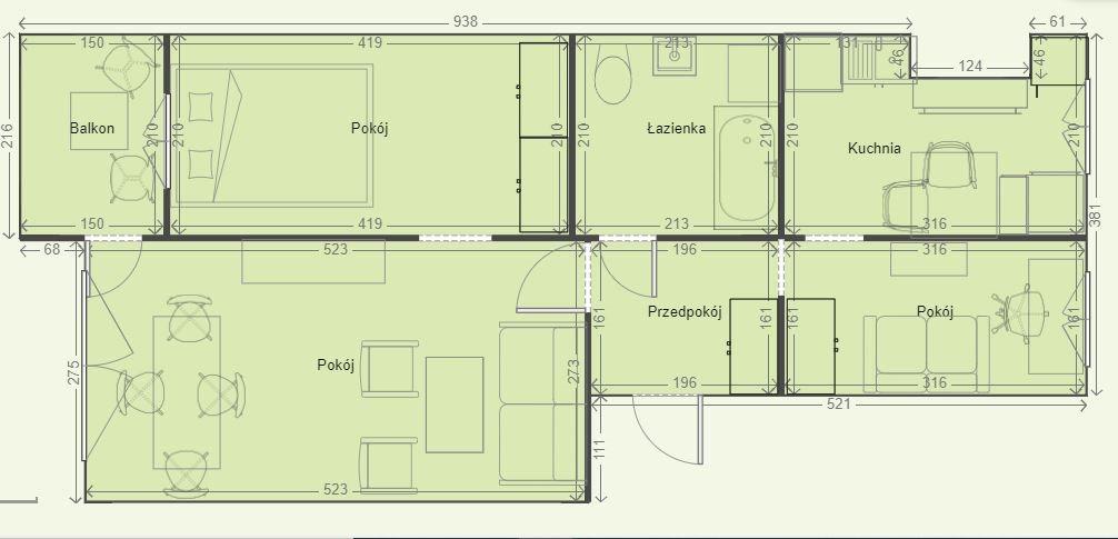 Mieszkanie trzypokojowe na sprzedaż Chorzów, Powstańców  44m2 Foto 1