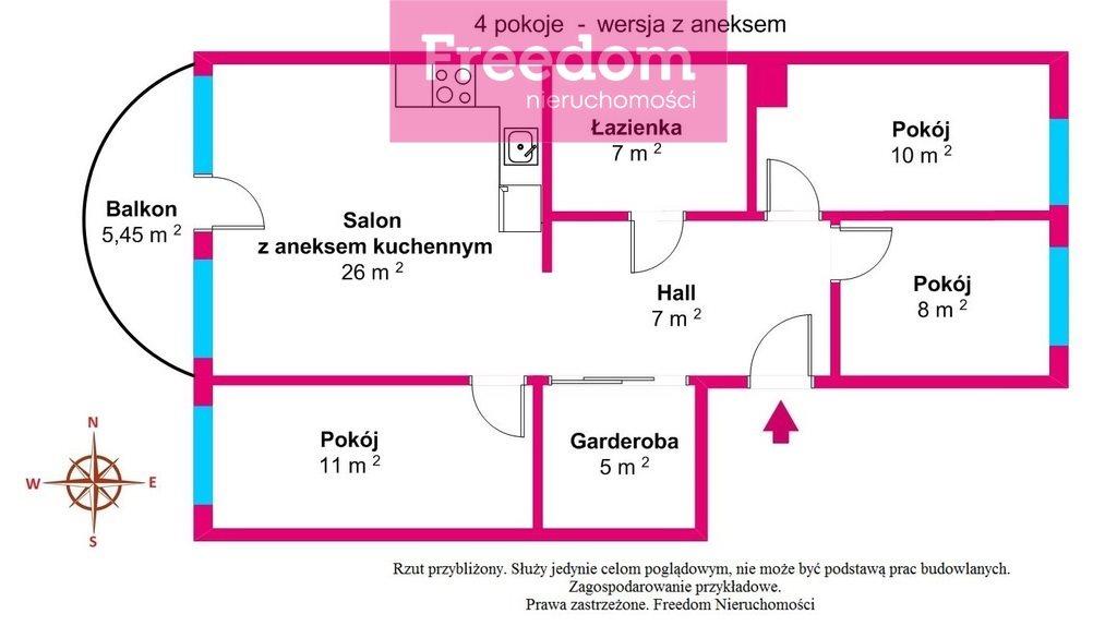 Mieszkanie trzypokojowe na sprzedaż Toruń, Koniuchy, Janiny Bartkiewiczówny  75m2 Foto 12