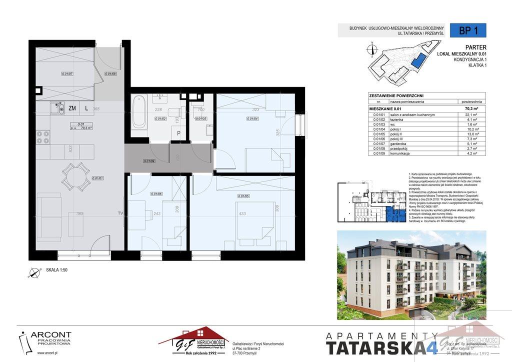 Mieszkanie czteropokojowe  na sprzedaż Przemyśl, Tatarska  70m2 Foto 8