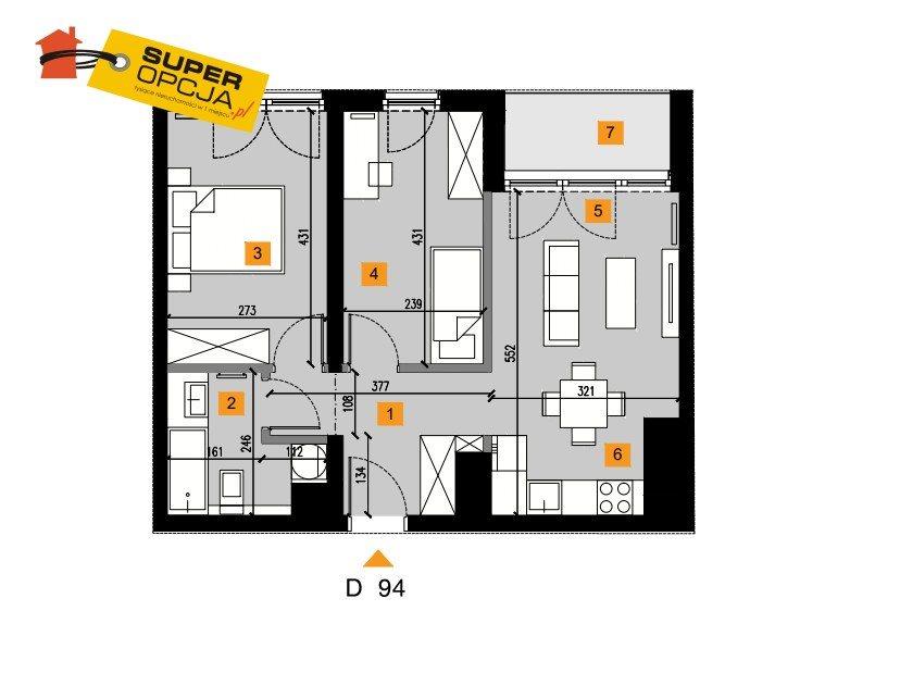 Mieszkanie trzypokojowe na sprzedaż Kraków, Grzegórzki  51m2 Foto 2