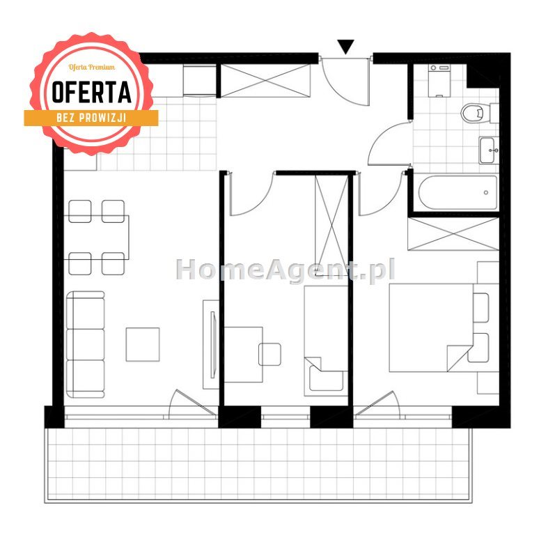 Mieszkanie trzypokojowe na sprzedaż Katowice, Wełnowiec, Bytkowska  47m2 Foto 9