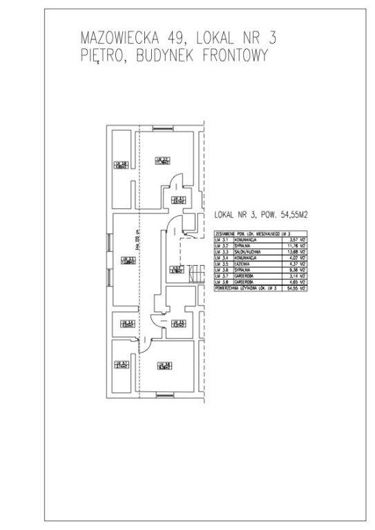 Mieszkanie trzypokojowe na sprzedaż Łódź, Widzew, Widzew, Mazowiecka  55m2 Foto 12