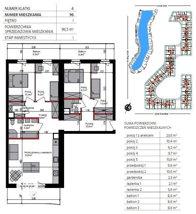 Mieszkanie trzypokojowe na sprzedaż Bydgoszcz, Szwederowo, Piękna  97m2 Foto 1