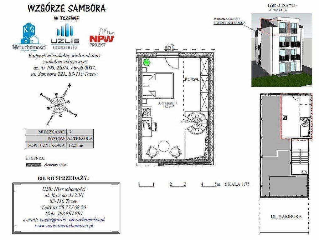 Mieszkanie dwupokojowe na sprzedaż Tczew, Sambora  45m2 Foto 3