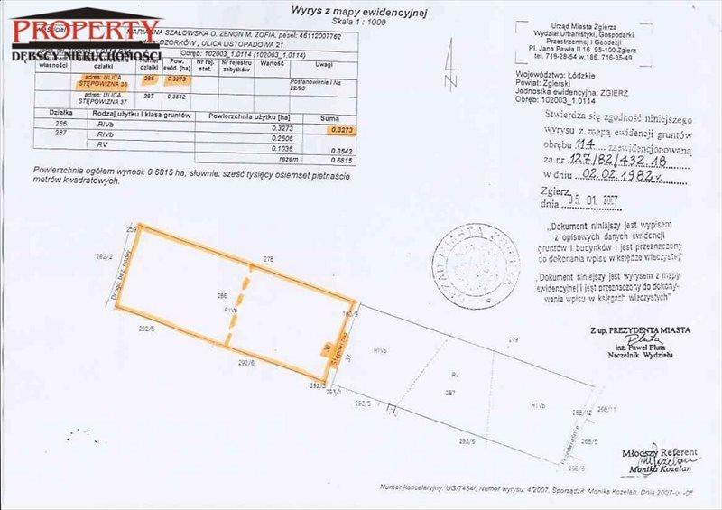 Działka budowlana na sprzedaż Zgierz, Stępowizna  3151m2 Foto 1
