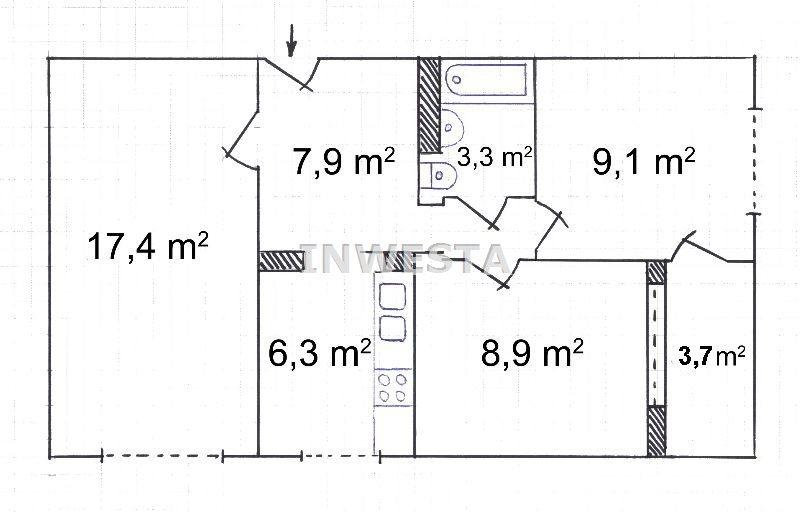 Mieszkanie trzypokojowe na sprzedaż Warszawa, Targówek, Targówek, Smoleńska  53m2 Foto 1