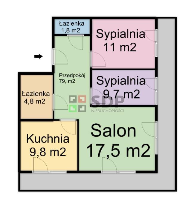 Mieszkanie trzypokojowe na sprzedaż Wrocław, Fabryczna, Żerniki, Henricha Lauterbacha  62m2 Foto 3