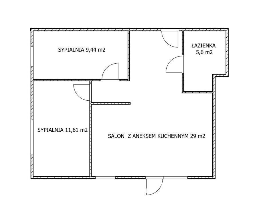 Mieszkanie trzypokojowe na wynajem Bydgoszcz, Centrum  55m2 Foto 8