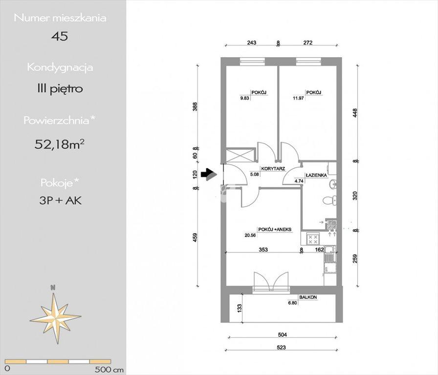 Mieszkanie trzypokojowe na sprzedaż Bydgoszcz, Bartodzieje Wielkie, Kazimierza Pułaskiego  52m2 Foto 4