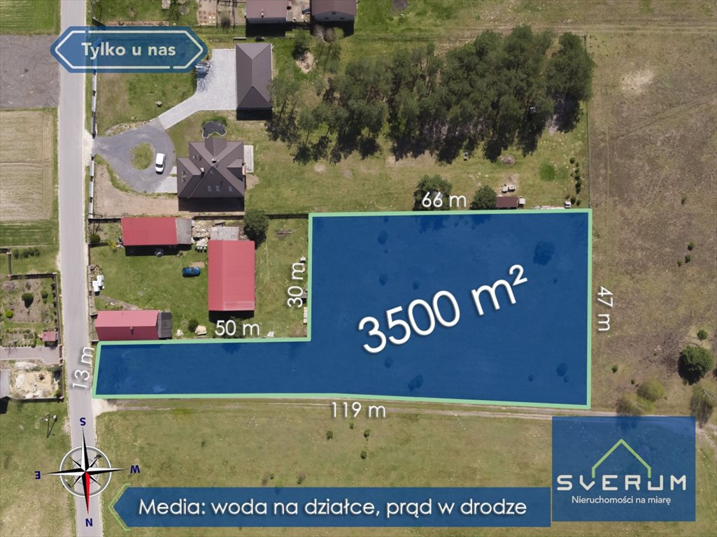 Działka budowlana na sprzedaż Wola Mokrzeska, Leśna  3500m2 Foto 2