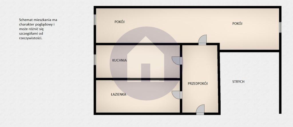 Mieszkanie dwupokojowe na sprzedaż Świebodzice  75m2 Foto 4
