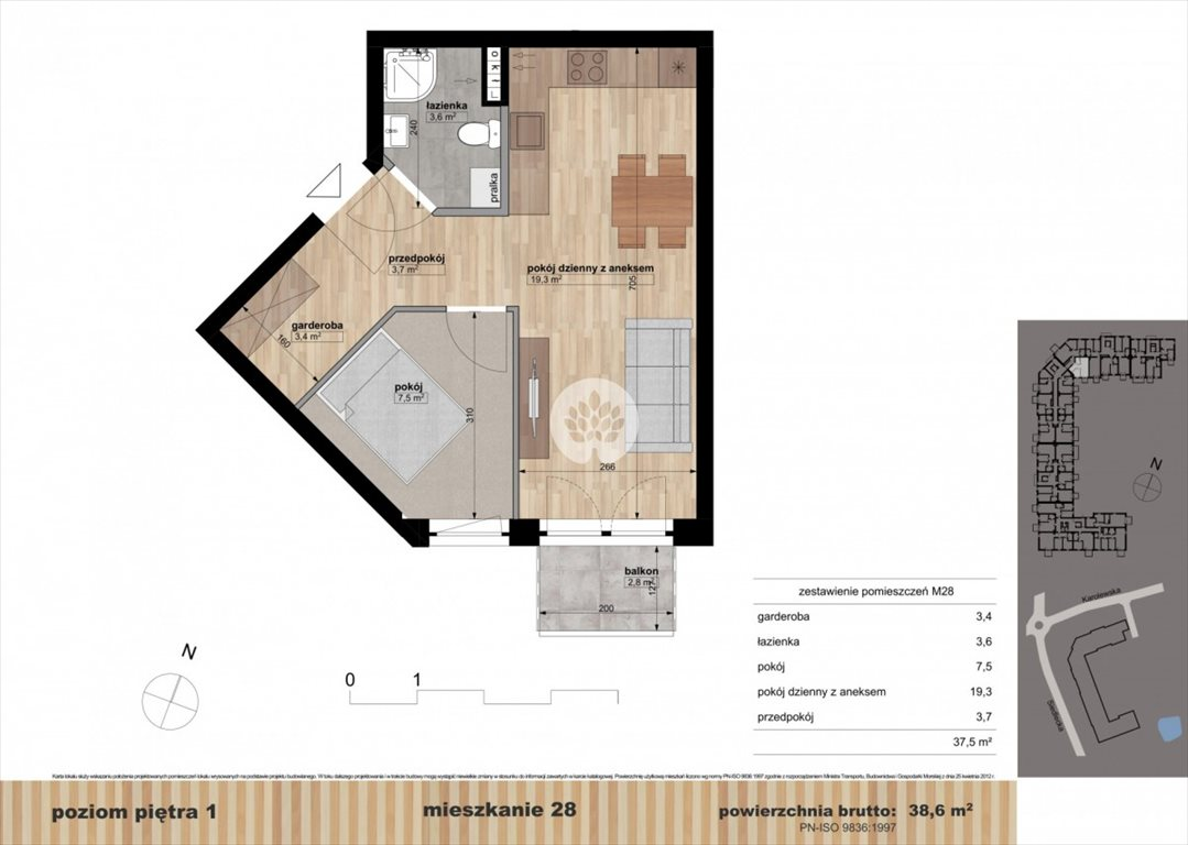 Mieszkanie dwupokojowe na sprzedaż Bydgoszcz, Czyżkówko, Siedlecka  39m2 Foto 9
