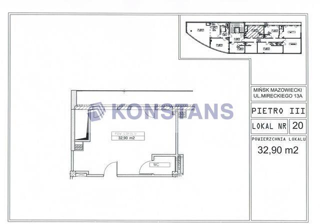 Lokal użytkowy na sprzedaż Mińsk Mazowiecki, Józefa Mireckiego  33m2 Foto 4