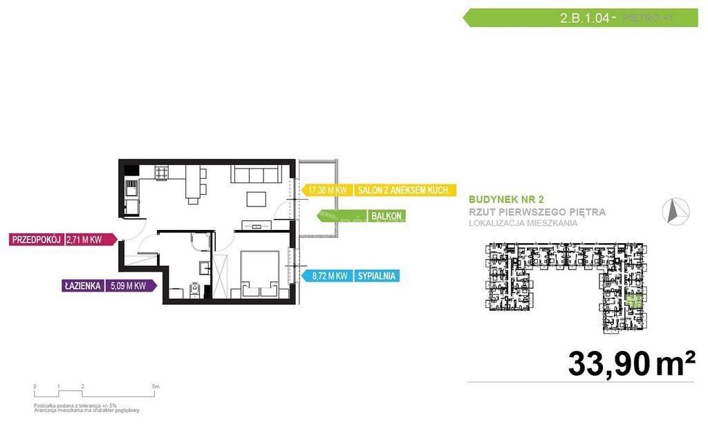 Mieszkanie dwupokojowe na sprzedaż Mikołów, storczyków  34m2 Foto 4