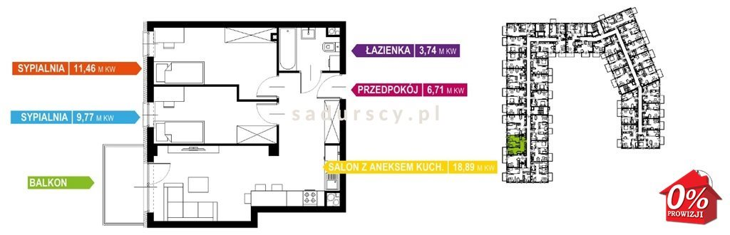 Mieszkanie trzypokojowe na sprzedaż Kraków, Prądnik Biały, Prądnik Biały, Kazimierza Wyki - okolice  51m2 Foto 6