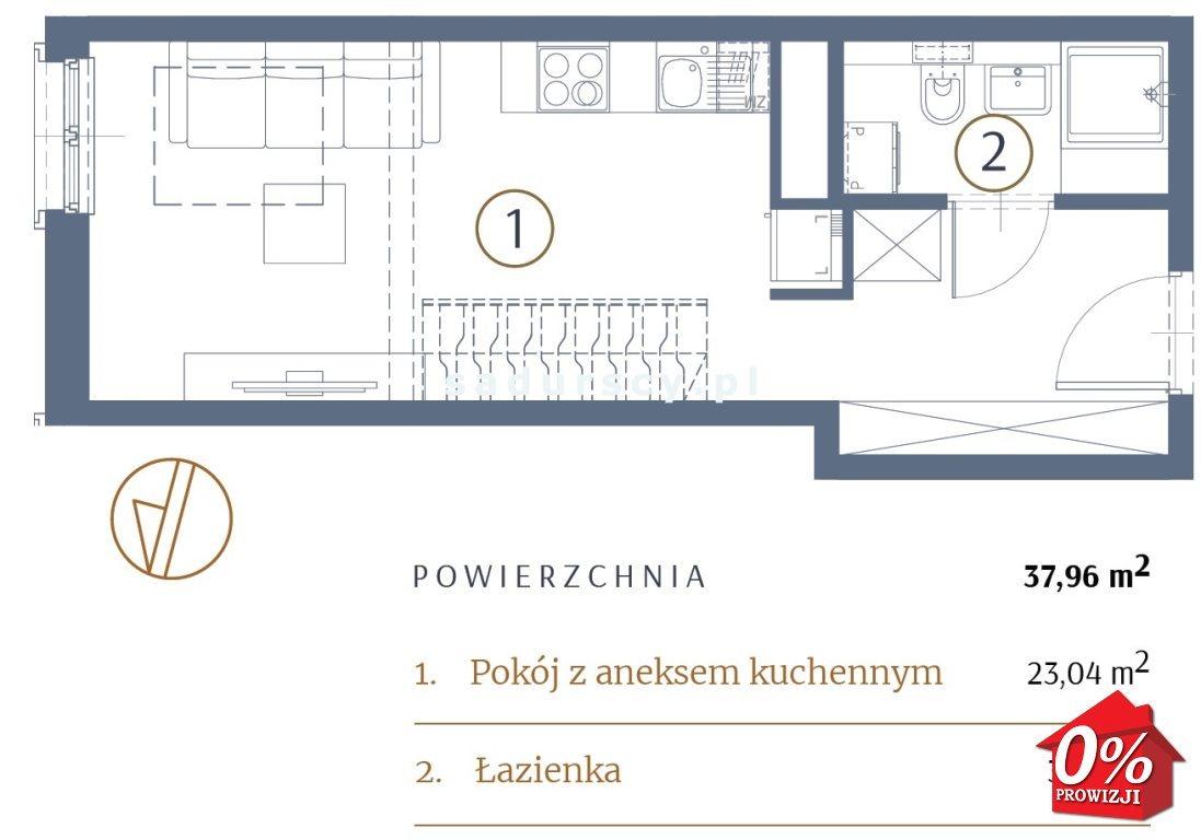 Mieszkanie dwupokojowe na sprzedaż Kraków, Stare Miasto, Kleparz, Sławkowska - okolice  38m2 Foto 3