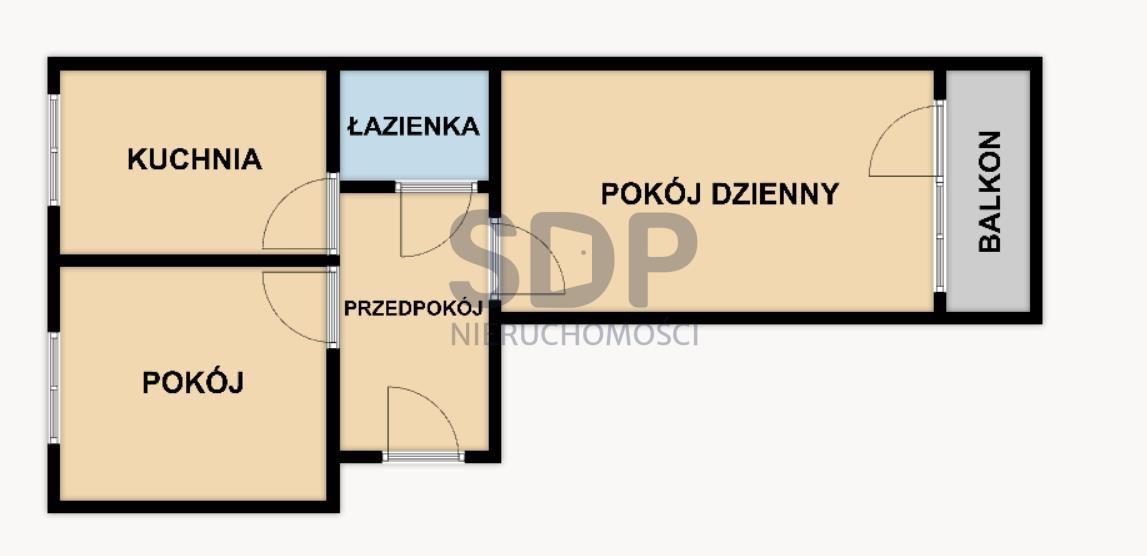 Mieszkanie dwupokojowe na sprzedaż Wrocław, Krzyki, Huby, Borowska  52m2 Foto 2