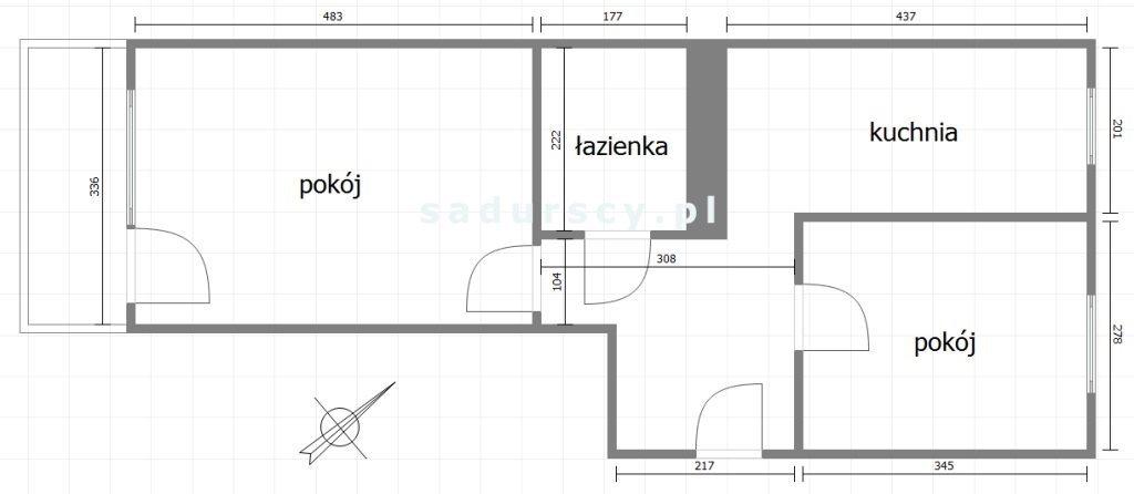 Mieszkanie dwupokojowe na sprzedaż Kraków, Bieżanów-Prokocim, Kozłówek, Na Kozłówce  49m2 Foto 3