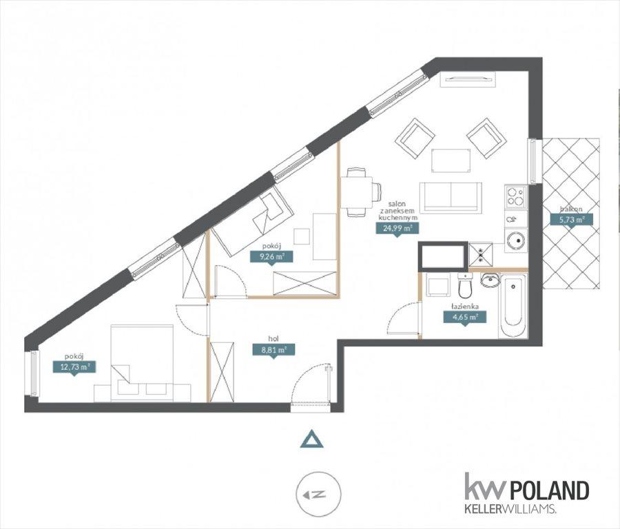 Mieszkanie trzypokojowe na sprzedaż Poznań, Garbary, Garbary  60m2 Foto 7