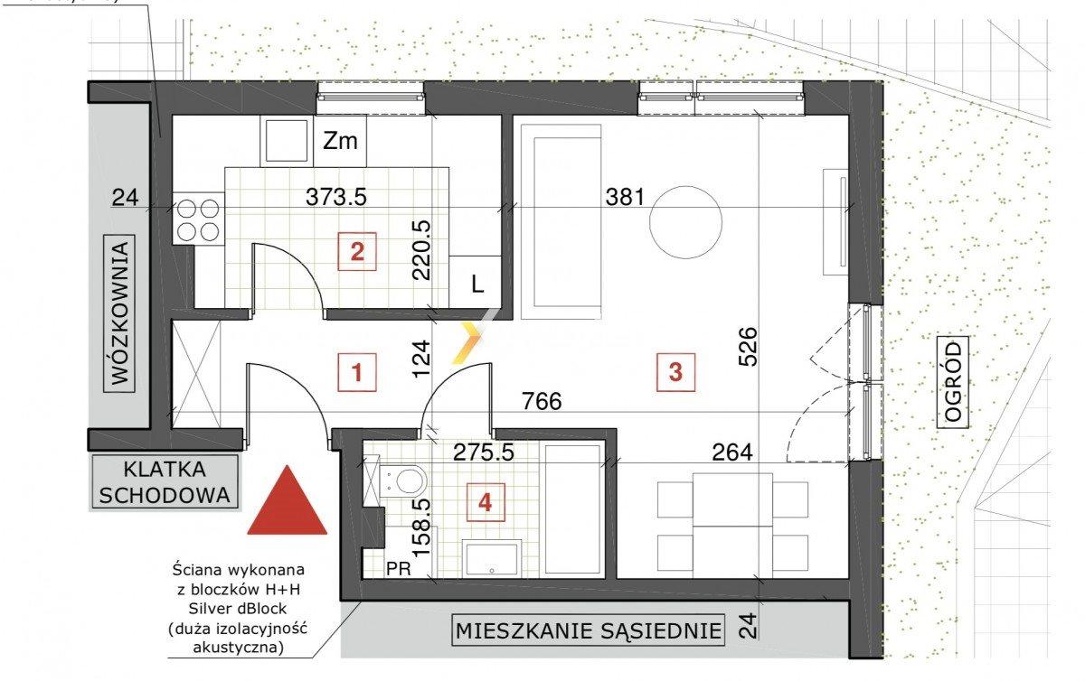 Mieszkanie dwupokojowe na sprzedaż Wrocław, Psie Pole, Bolesława Krzywoustego  35m2 Foto 1
