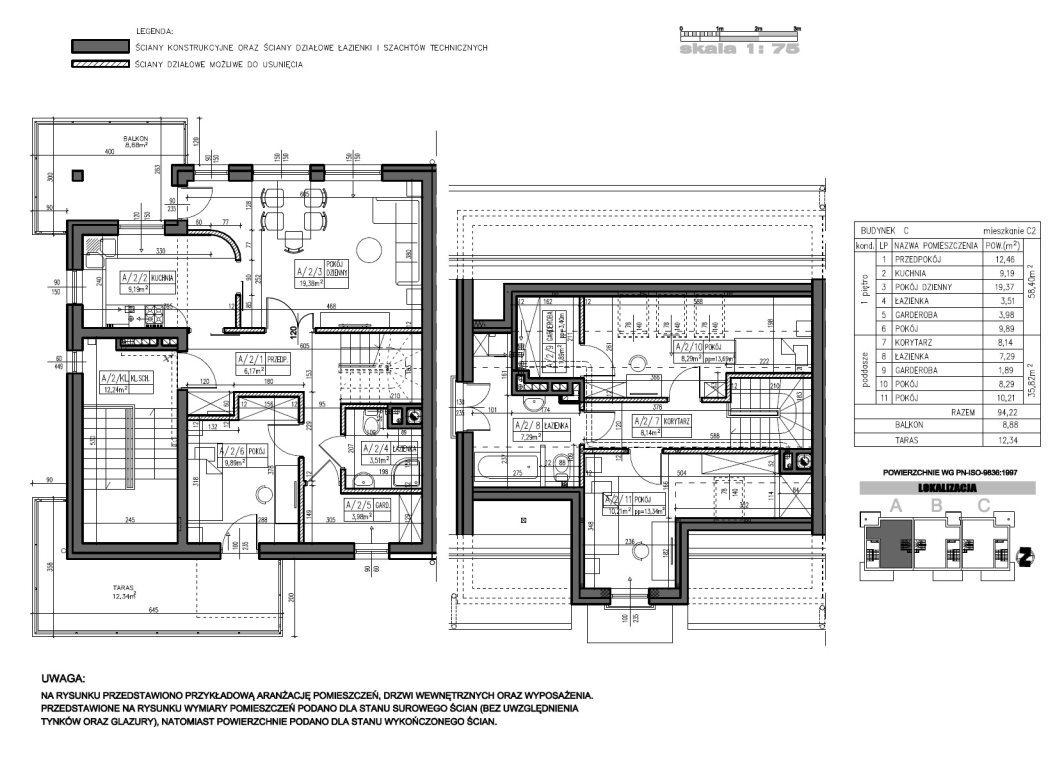 Mieszkanie czteropokojowe  na sprzedaż Kielce, Baranówek  94m2 Foto 3